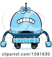 Clipart Sad Blue Robot Boy Royalty Free Vector Illustration