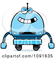 Clipart Dumb Blue Robot Boy Royalty Free Vector Illustration by Cory Thoman