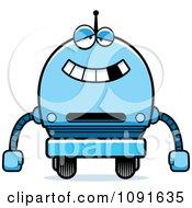 Clipart Dumb Blue Robot Boy Royalty Free Vector Illustration