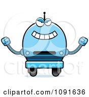 Clipart Evil Blue Robot Boy Royalty Free Vector Illustration