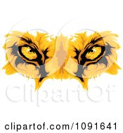 Clipart Golden Lion Eyes Royalty Free Vector Illustration by Chromaco