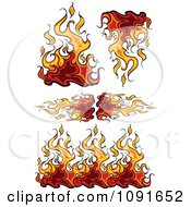 Clipart Flaming Borders And Design Elements Royalty Free Vector Illustration