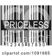 Clipart Black And White Pricesless Upc Bar Code Royalty Free Vector Illustration by Maria Bell
