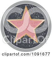Clipart Blank Sidewalk Hollywood Star Royalty Free Vector Illustration