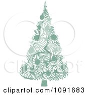 Clipart Green Christmas Tree With Stars And Baubles Royalty Free Vector Illustration by Steve Klinkel