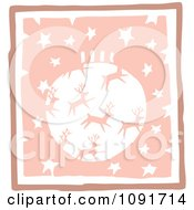 Clipart Pastel Pink Reindeer Christmas Bauble And Stars Royalty Free Vector Illustration by Steve Klinkel