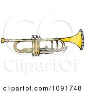 Clipart Brass Trumpet Royalty Free Vector Illustration