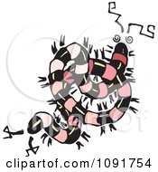 Clipart Twisted Centipede Royalty Free Vector Illustration