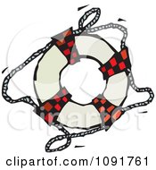 Clipart Life Buoy Ring Royalty Free Vector Illustration by Steve Klinkel