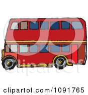 Clipart Double Decker In Profile Royalty Free Vector Illustration