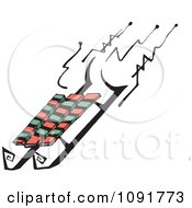 Clipart Winter Sled Royalty Free Vector Illustration