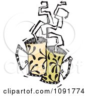 Clipart Two Mugs With Steam Rising Royalty Free Vector Illustration by Steve Klinkel