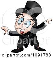 Clipart Talking Magician Royalty Free Vector Illustration