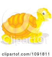 Clipart Yellow And Orange Tortoise Royalty Free Vector Illustration by Alex Bannykh
