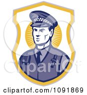 Clipart Retro Police Officer Badge Royalty Free Vector Illustration by patrimonio