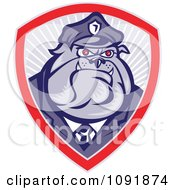 Clipart Retro Police Bulldog Officer Badge Royalty Free Vector Illustration by patrimonio