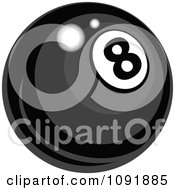 Clipart Shiny Billiards Pool Eight Ball Royalty Free Vector Illustration by Chromaco