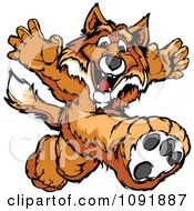 Clipart Track And Field Fox Mascot Running Royalty Free Vector Illustration