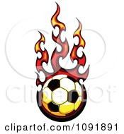 Clipart Fire Engulfed Soccer Ball Royalty Free Vector Illustration by Chromaco