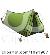 Clipart Green Camp Tent Royalty Free Vector Illustration