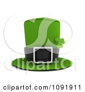 Clipart 3d Green Leprechaun Hat With A St Patricks Day Clover Royalty Free CGI Illustration