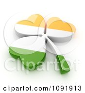 Clipart 3d Irish St Patricks Day Clover Flag Royalty Free CGI Illustration