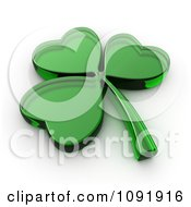 Clipart 3d Glass St Patricks Day Shamrock Royalty Free CGI Illustration by BNP Design Studio