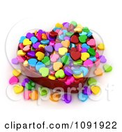 Clipart 3d Colorful Heart Candies In A Box Royalty Free CGI Illustration