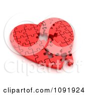 Clipart 3d Incompleted Red Puzzle Heart Royalty Free CGI Illustration by BNP Design Studio