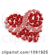 Clipart 3d Red Candies Forming A Heart Royalty Free CGI Illustration