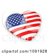 Clipart 3d American Flag Heart Royalty Free CGI Illustration by BNP Design Studio
