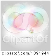 Clipart Pastel Colorful Speech Bubble With Flourishes And Flares Royalty Free Vector Illustration