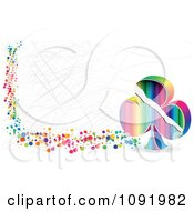 Clipart Scratched Colorful Poker Club Or Clover Banner Royalty Free Vector Illustration