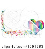 Clipart Scratched Colorful Poker Heart Banner Royalty Free Vector Illustration