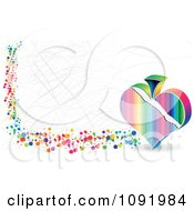 Clipart Scratched Colorful Poker Spade Banner Royalty Free Vector Illustration