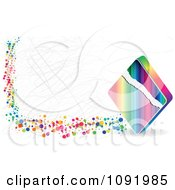 Clipart Scratched Colorful Poker Diamond Banner Royalty Free Vector Illustration