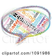 Clipart Colorful E Commerce Chat Balloon Royalty Free Vector Illustration
