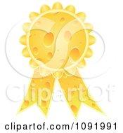 Clipart 3d Cheese Award Ribbon Medal Royalty Free Vector Illustration by Andrei Marincas