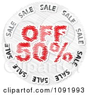 Clipart Scribbled Fifty Percent Off Sale Icon Royalty Free Vector Illustration by Andrei Marincas