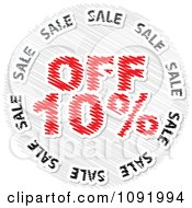 Clipart Scribbled Ten Percent Off Sale Icon Royalty Free Vector Illustration by Andrei Marincas