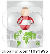 Clipart 3d Austrian Flag Person On An Atlas Podium Royalty Free Vector Illustration by Andrei Marincas