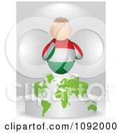 Clipart 3d Hungarian Flag Person On An Atlas Podium Royalty Free Vector Illustration by Andrei Marincas