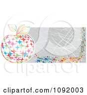 Clipart Scratched Colorful Sparkle Apple Banner Royalty Free Vector Illustration