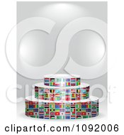 Clipart 3d World Flag Podium Under Copyspace Royalty Free Vector Illustration by Andrei Marincas