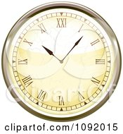 Clipart 3d Roman Numeral Wall Clock Royalty Free Vector Illustration