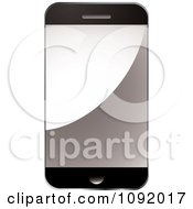 Clipart 3d Smart Phone With A Blank Screen Royalty Free Vector Illustration