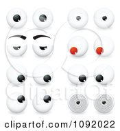 Clipart 3d Eye Balls With Different Expressions Royalty Free Vector Illustration