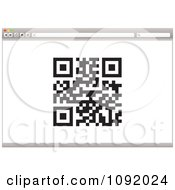 Clipart Qr Code On A 3d Internet Web Browser Royalty Free Vector Illustration by michaeltravers