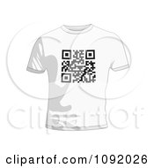 Clipart Qr Code On A White T Shirt Royalty Free Vector Illustration