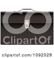 Clipart 3d Black Leather Briefcase Royalty Free Vector Illustration